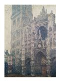 Rouen Cathedral, West Portal, Grey Weather, 1894 Art Print