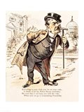 Caricature of Chester Alan Arthur, c.1883 Art Print