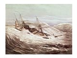 The Mississippi Steam Frigate in a Typhoon Art Print