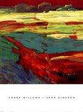Vern Simpson - Creek Willows Art Print