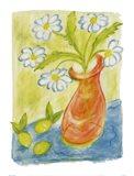 Daisies In Pink Vase Art Print