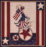 Star Spangled Girl Art Print