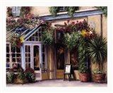 Garden Cafe Art Print