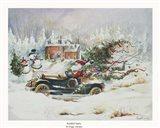 Roadster Santa Art Print