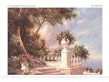 Balcony At Lake Como Art Print