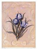 Tulips Azure Art Print