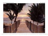 Palm Promenade Art Print