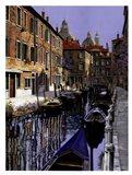 La Barche Sul Canale Art Print