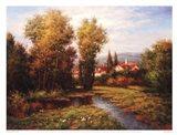 Italian River Bend Art Print