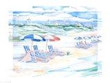Seaside Shady Spot Art Print