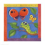 Green Caterpillar Art Print