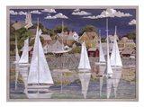 Captain's Harbor Art Print