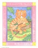Climbing Tiger Art Print