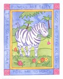 Munching Zebra Art Print