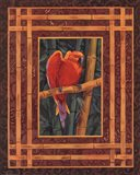 Mandarin Love Bird Art Print