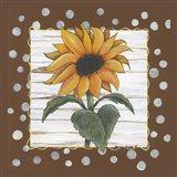 Polka Dot Sunflower Art Print