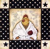 Her Bird Bath Art Print