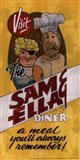 Sam and Ella Diner Art Print