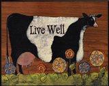 Live Well Cow Art Print