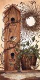 Black Birch Wreath Art Print