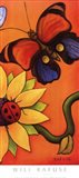 Butterfly and Ladybug Art Print