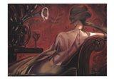 Bordeaux Lounge Art Print