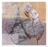 Memoirs of Paris I Art Print