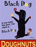Black Dog Doughnuts Art Print