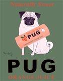 Pug Orange Juice Art Print