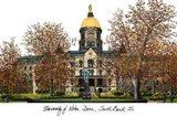 Universtiy of Notre Dame Art Print
