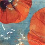 Poppies in the Sky II Art Print