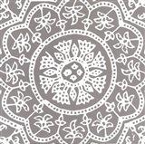 Woodblock Pattern I Art Print