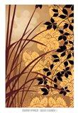 Golden Flourish I Art Print
