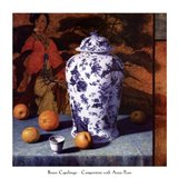 Composition with Asian Pears (Contemporary Still-Life #25) Art Print