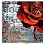 Graffiti Rose Art Print
