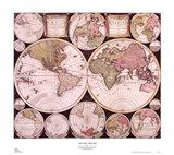 Atlas Major World Map Art Print