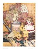 Fleurs et dentelles Art Print