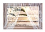 Surf and Palm View Art Print
