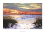 Sunset Over Robert Moses Art Print