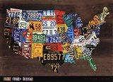 Usa Map II Art Print