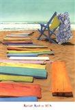 'Biscus Blue Art Print