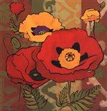 Majestic Poppies I Art Print