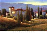 Blue Shadows in Tuscany I Art Print