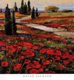 Hills In Bloom I Art Print
