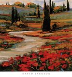 Hills In Bloom II Art Print