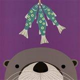 Peek-a-Boo Otter Art Print