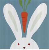Peek-A-Boo I Rabbit Art Print