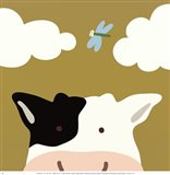 Peek-A-Boo III Cow Art Print