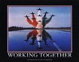 Motivational - Working Together Art Print