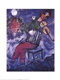 Blue Violinist Art Print